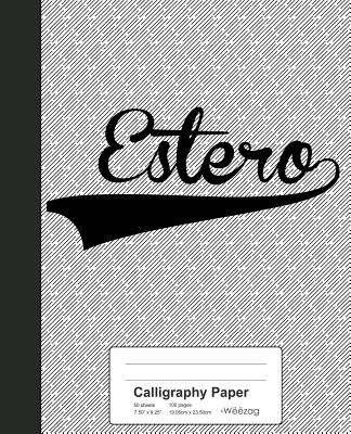 Calligraphy Paper: ESTERO Notebook - Weezag