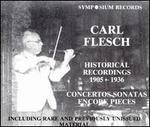 Carl Flesch: Historical Recordings, 1905 - 1936