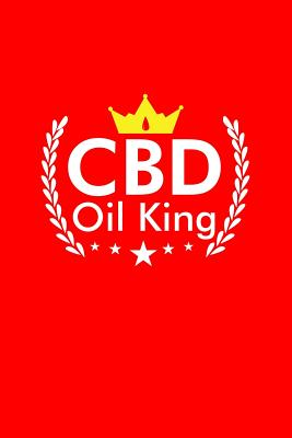 CBD Oil King: Dot Grid Journal - CBD Oil King Black Dope Fun-ny Weed Marijuana Hobby Gift - Red Dotted Diary, Planner, Gratitude, Writing, Travel, Goal, Bullet Notebook - 6x9 120 pages - Weed Journals, Gcjournals