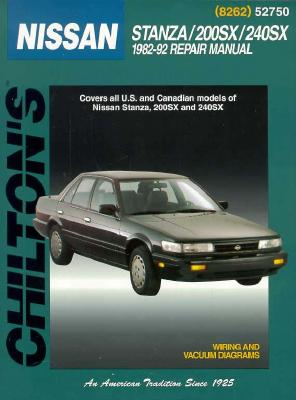 chilton s nissan stanza 200sx 240sx 1982 92 repair manual book by rh alibris com 1988 Nissan Stanza 1992 Nissan Stanza Xe