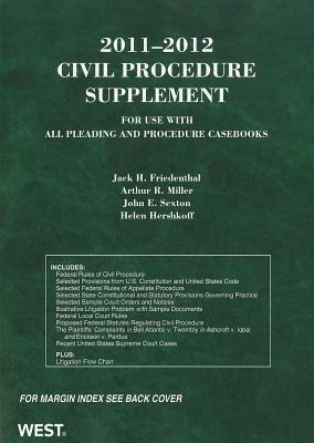 Civil Procedure Supplement - Friedenthal, Jack H, and Miller, Arthur R, and Sexton, John E