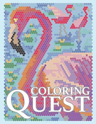 Coloring Quest: Activity Puzzle Color by Number Book for Adults Relaxation and Stress Relief - Drawing, Sunlife