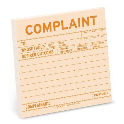 Complaint Sticky -