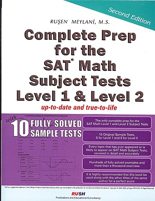 Complete Prep for the SAT Math Subject Tests Level 1 & Level 2 - Meylani, Rusen