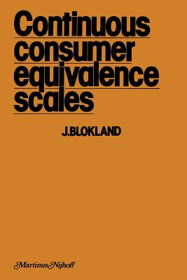 Continuous Consumer Equivalence Sales: Item-Specific Effects of Age and Sex of Household Members in the Budget Allocation Model - Blokland, J