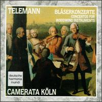 Telemann: Bl�serkonzerte - Andreas Preuss (violin); Anke Vogelsanger (violin); Camerata K�ln; Hajo Bass (violin); Hans Koch (contrabass); Hans-Peter Westermann (oboe); Harald Hoeren (harpsichord); Mary Utiger (violin); Michael McCraw (bassoon); Michael Schneider (recorder)