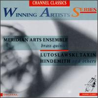 Winning Artists Series: Meridian Arts Ensemble - Benjamin Herrington (trombone); Daniel Grabois (horn); Jim Gordon (percussion); Jon Nelson (trumpet); Meridian Arts Ensemble; Raymond G. Stewart (tuba); Richard Kelley (trumpet)