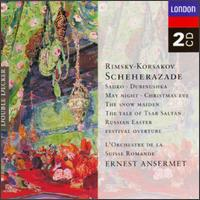 Nikolay Rimsky-Korsakov: Scheherazade; Sadko; Dubinushka; May Night; Christmas Eve; The Snow Maiden; etc. - Geneva Motet Choir (choir, chorus); L'Orchestre de la Suisse Romande