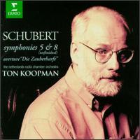 Schubert: Symphony Nos. 5 & 8/Die Zauberharfe Overture - Ton Koopman (conductor)