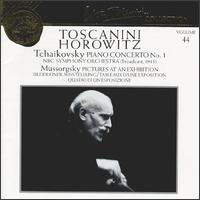 Tchaikovsky: Concerto No. 1; Mussorgsky: Pictures at an Exhibition - Vladimir Horowitz (piano); Arturo Toscanini (conductor)