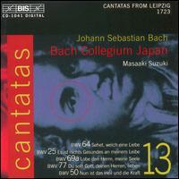 Bach: Cantatas, Vol. 13 - Bach Collegium Japan; Concerto Palatino (brass ensemble); Gerd T�rk (tenor); Kirsten Solleck-Avella (alto);...