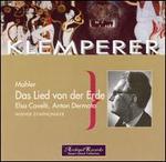 Mahler: Das Lied von der Erde - Anton Dermota (tenor); Elsa Cavelti (alto); Vienna Symphony Orchestra; Otto Klemperer (conductor)