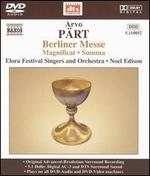 Arvo P�rt: Berliner Messe [DVD Audio]