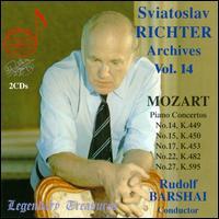 Sviatoslav Richter Archives, Vol. 14: Sviatoslav Richter plays Mozart - Sviatoslav Richter (piano); Moscow Chamber Orchestra; Rudolf Barshai (conductor)