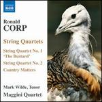 """Ronald Corp: String Quartets Nos. 1 """"The Bustard"""" & 2; Country Matters"""