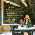 April Fredrick sings Copland, Barber, Gershwin