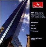 20th Century Masterworks for Solo Violin