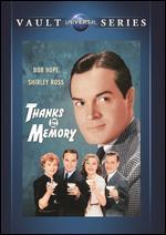 Thanks for the Memory [Vhs]
