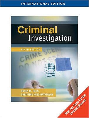 Criminal Investigation - Hess, Karen M, and Hess Orthmann, Christine