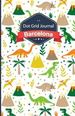 Cuaderno de Malla de Puntos - Dinosaurios: Tapa Blanda, 14x21cm, 130 Paginas - Dot Grid Journal