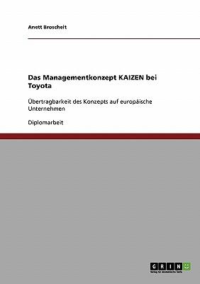 Das Managementkonzept Kaizen Bei Toyota - Broscheit, Anett