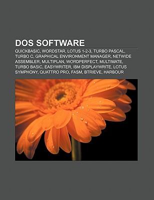 DOS Software: QuickBASIC, WordStar, Lotus 1-2-3, Turbo Pascal, Turbo