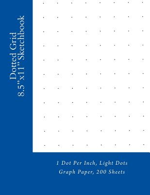 Dotted grid sketchbook 1 dot per inch light dots for Online graph paper design tool