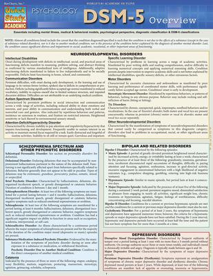 Dsm-5 Overview - BarCharts Inc