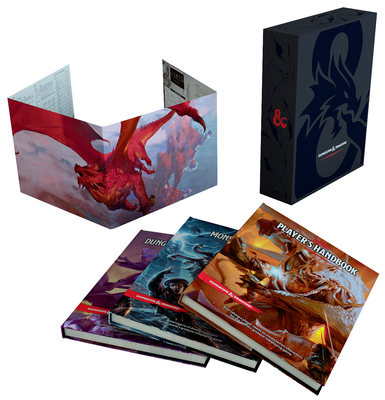 Dungeons & Dragons Core Rulebooks Gift Set (Special Foil Covers Edition with Slipcase, Player's Handbook, Dungeon Master's Guide, Monster Manual, DM Screen) - Wizards RPG Team
