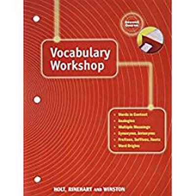 Elements of Language: Vocabulary Workshop Grade 8 Second Course - Holt Rinehart and Winston (Prepared for publication by)
