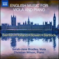 English Music for Viola and Piano - Christian Wilson (piano); Sarah-Jane Bradley (viola)