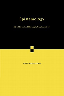 Epistemology - O'Hear, Anthony (Editor)