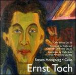 Ernst Toch: Music for Cello