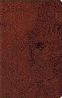 ESV Ultrathin Bible (Trutone, Walnut, Weathered Cross Design) -