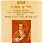 """Etienne Ozi: Six Grandes Sonates from """"Nouvelle Méthode de Basson"""", Paris 1803"""