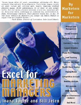 Excel for Marketing Managers - Taylor, Ivana, and Jelen, Bill