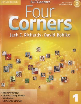 Four Corners Level 1 Full Contact with Self-Study CD-ROM - Richards, Jack C, Professor