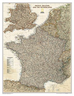 France, Belgium and The Netherlands Antique Map: NG.P01020459 -