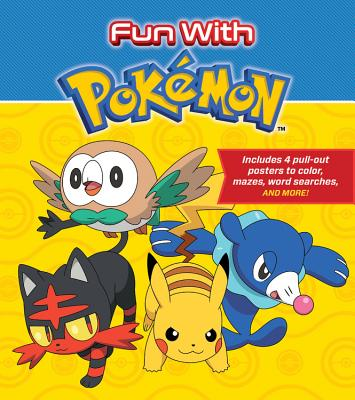 Fun with Pokemon: Includes 4 Pull-Out Posters to Color, Mazes, Word Searches, and More! - Whitehill, Simcha