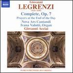 Giovanni Legrenzi: Compiete, Op. 7
