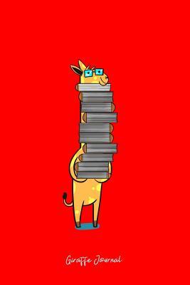Giraffe Journal: Dot Grid Journal - Nerd Book Lover Giraffe Glasses Funny Bookworm Girls Gift - Red Dotted Diary, Planner, Gratitude, Writing, Travel, Goal, Bullet Notebook - 6x9 120 pages - Giraffe Journals, Boredkoalas