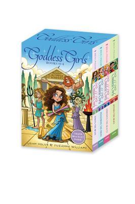 Goddess Girls Books #1-4 (Charm Bracelet Inside!): Athena the Brain; Persephone the Phony; Aphrodite the Beauty; Artemis the Brave - Holub, Joan, and Williams, Suzanne