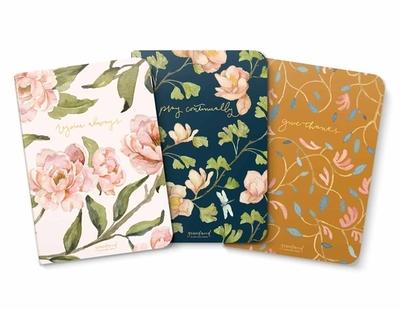 Gracelaced Lined Notebooks, Set of 3, Rejoice, Pray, Give - Simons, Ruth Chou