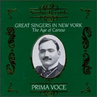 Great Singers in New York: The Age of Caruso - Adamo Didur (vocals); Alessandro Bonci (vocals); Alma Gluck (vocals); Antonio Scotti (vocals);...