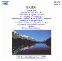 Grieg: Peer Gynt Overture and Suites; Lyric Pieces; Sigurd Jorsalfar - Czecho-Slovak Philharmonic Orchestra; Stephen Gunzenhauser (conductor)