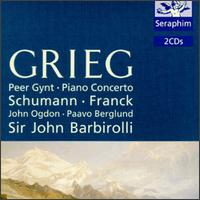 Grieg: Peer Gynt; Piano Concerto; Schumann, Cesar Franck: Works - Ambrosian Singers (vocals); John Ogdon (piano); Patricia Clark (soprano); Sheila Armstrong (soprano)