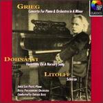 Grieg: Piano Concerto; Dohnányi: Variations on a Nursery Song; Litolff: Scherzo