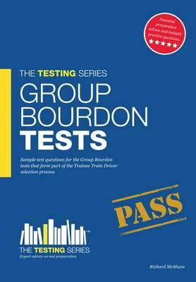 Group Bourdon Tests: Sample Test Questions for the Trainee Train Driver Selection Process: v. 1 - McMunn, Richard