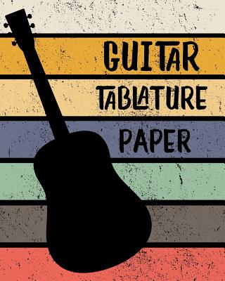 Guitar Tablature Paper: Blank Notebook 6 line staves and 5 blank chord boxes on top of each page 110 pages - Books, Farout&fab