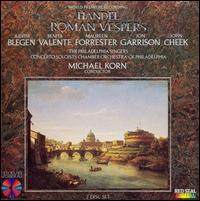Handel: Roman Vespers - Benita Valente (soprano); John Cheek (bass); Jon Garrison (tenor); Judith Blegen (soprano); Maureen Forrester (contralto);...